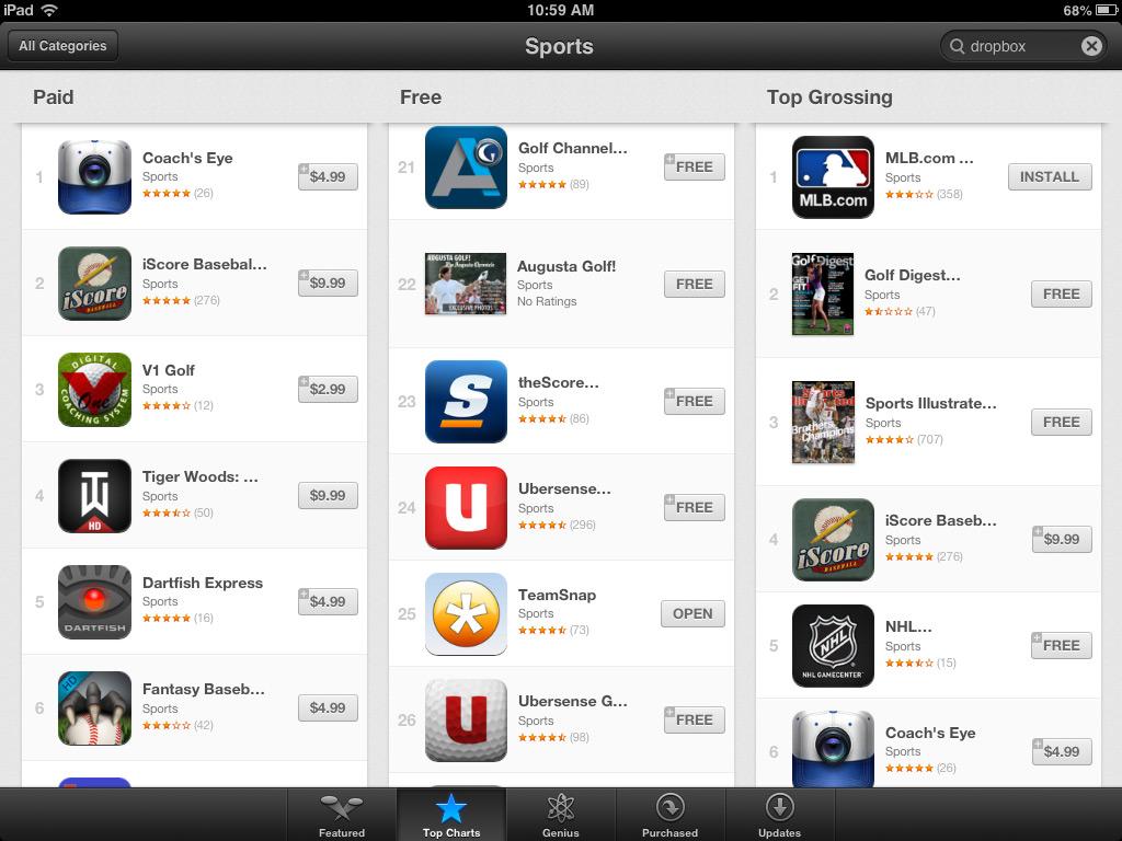 best ios sports app