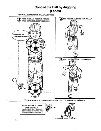 Soccer Tips Successful Instep Juggling