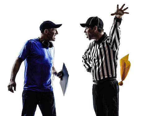 american footbal referee gestures silhouettes