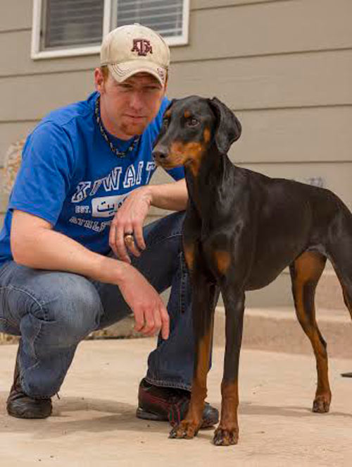 Partner Relationships Manager Evan Williams says Cal Ripken was one of his biggest baseball idols as a kid. So much so that he chose to name is 1.5-year-old Doberman Pinscher rescue Ripken. She goes by Kens for short and loves to run, hike, ride in Evan's truck, show off her off-leash obedience, and she is currently learning to fetch Evan beer from the fridge.
