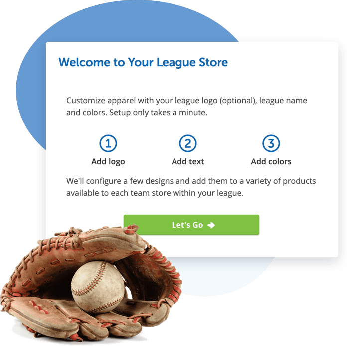 Setting up your league merchandise store is easy!