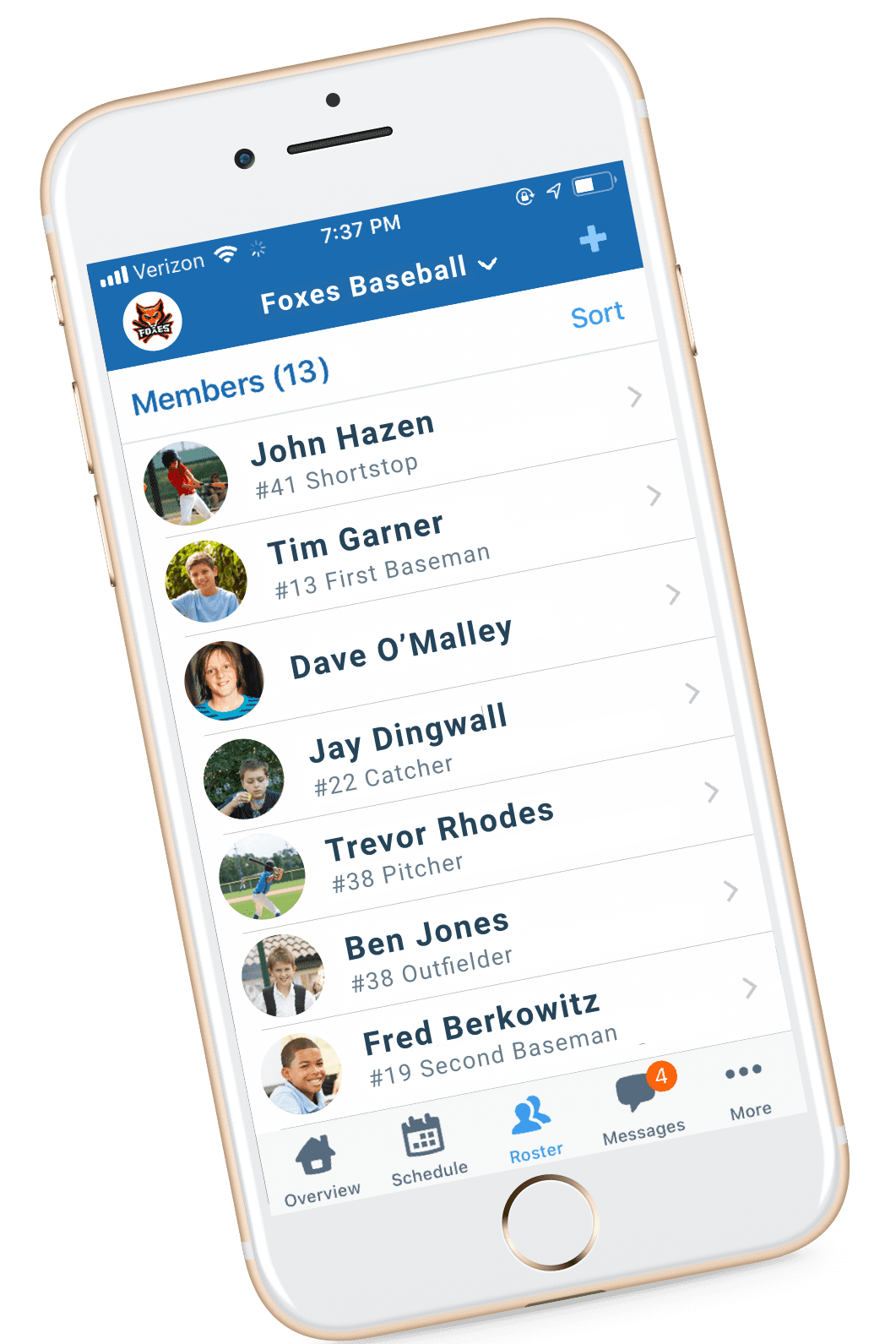 Teamsnap Mobile App for Teams