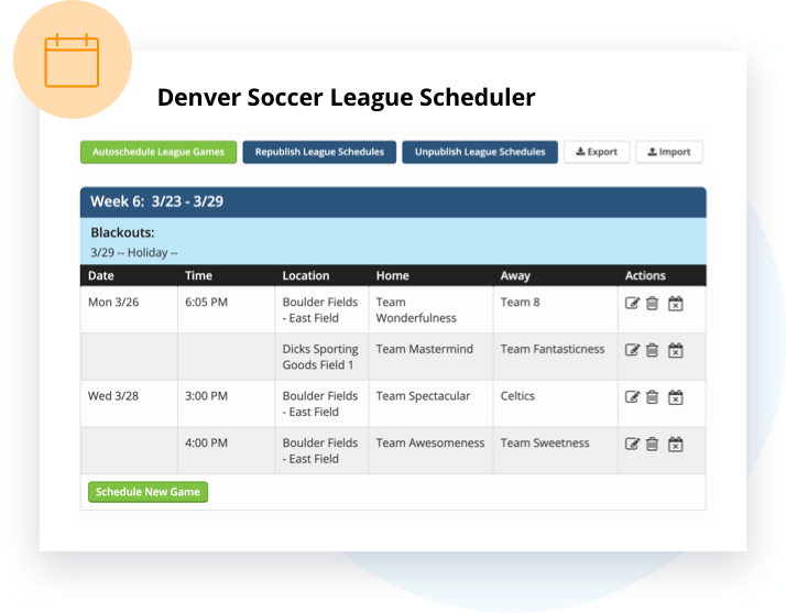 Scheduling for your Club & League with TeamSnap