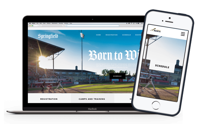 TeamSnap Club & League Softball organization app product