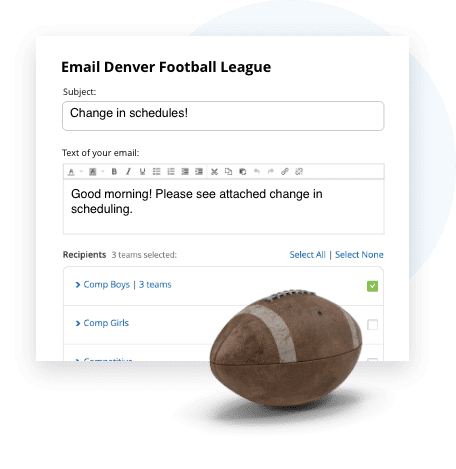 TeamSnap Club & League football communication tools are next level