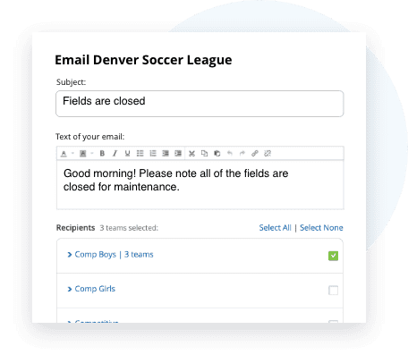 TeamSnap Club & League soccer communication tools are next level