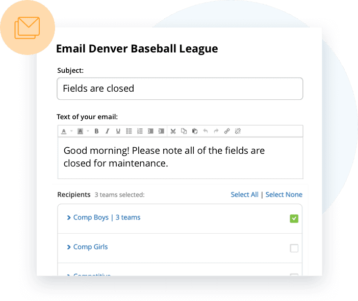 TeamSnap Club & League softball communication tools are next level