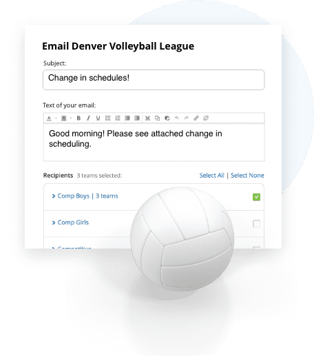 TeamSnap Club & League volleyball communication tools are next level