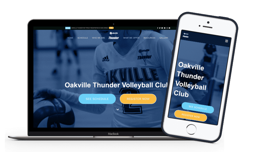 TeamSnap Club & League volleyball organization app product